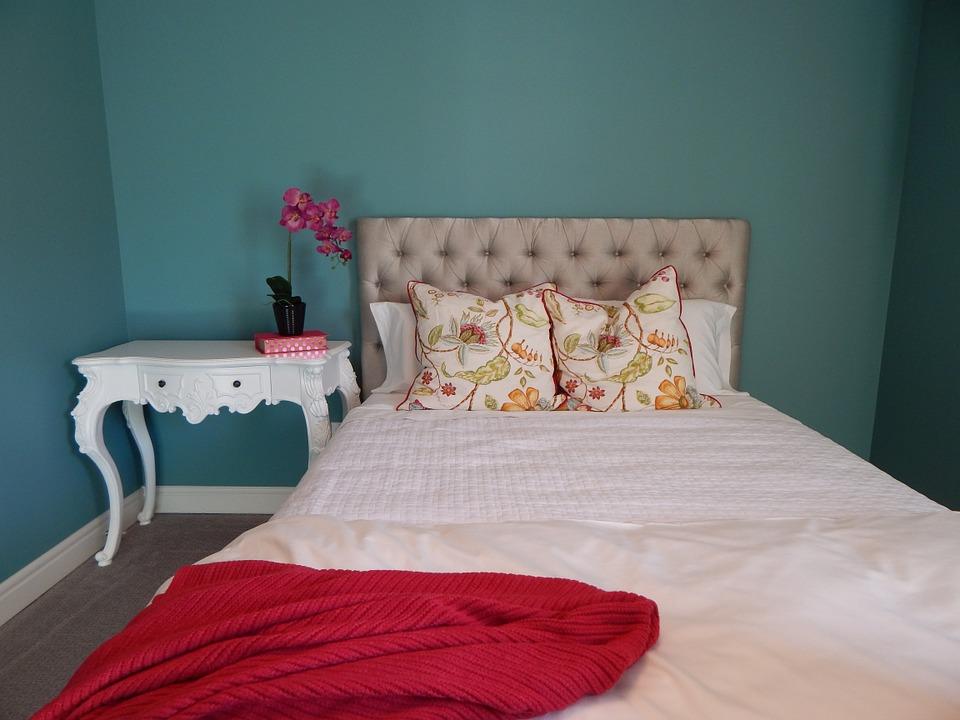 Camera da letto turchese