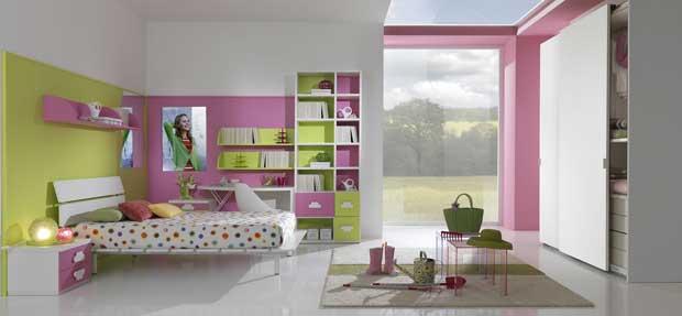 Camerette bambini pareti colorate - Decori pareti camerette ...