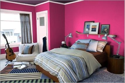 Dipingere le pareti con colori vivaci - Idee colori camera da letto ...