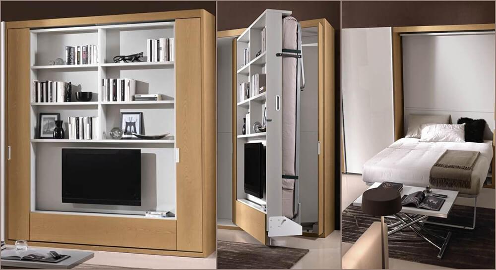 Letti a scomparsa per ritrovare il proprio spazio for Arredamento salvaspazio mobili multifunzionali