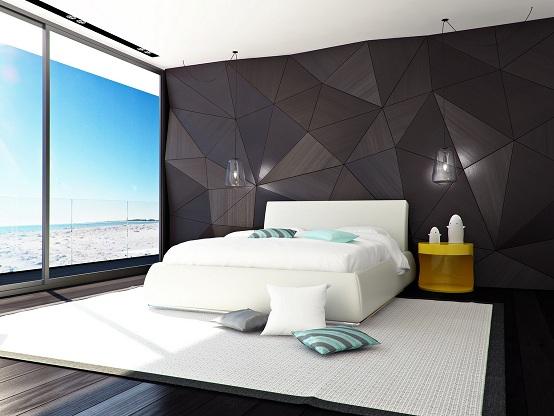 Camera Da Letto Parete Turchese : Parete camera da letto latest camera da letto con pareti viola n