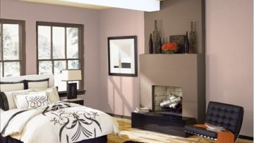 Pareti marrone stanza da letto