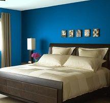 Pareti camera da letto: colori scuri