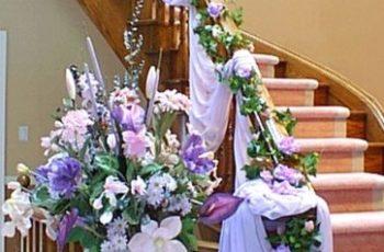 Decorare le scale per il matrimonio