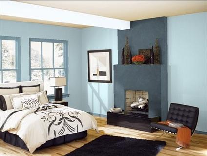 Stanza da letto - Pareti azzurre