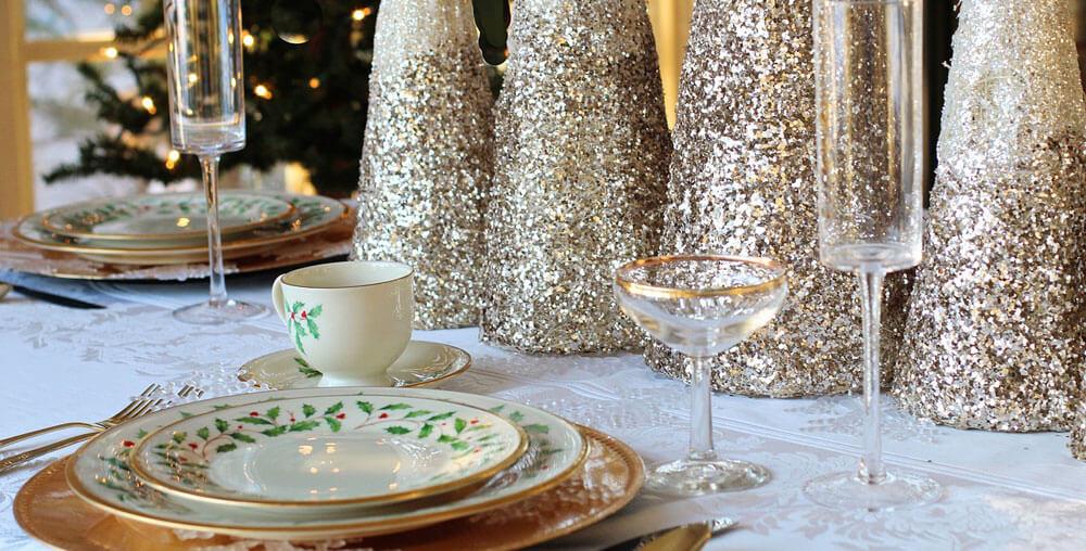 Colore oro per la tavola di Natale