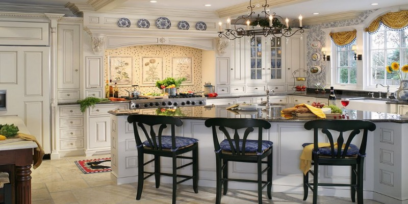 Cucine moderne ad angolo con isola: lo stile French Country