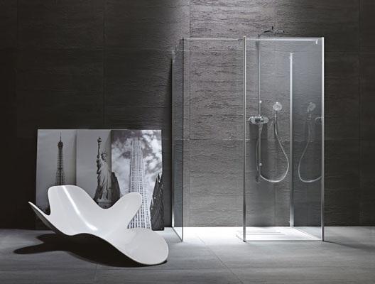 Bagni moderni sanitari sospesi box doccia in cristallo - Bagno moderno con doccia ...