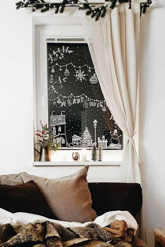 finestre natale decorazioni