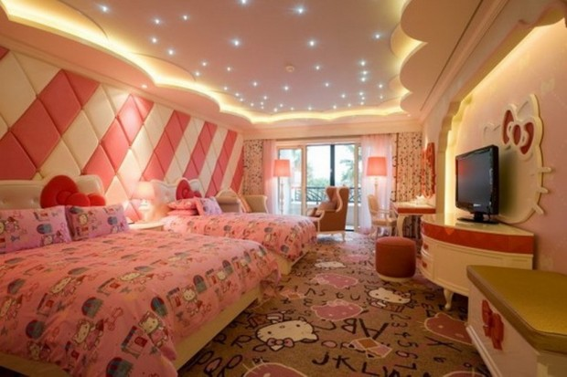 Camere Da Letto Per Ragazze Americane : Hello kitty bedrooms la cameretta dei sogni dei bambini