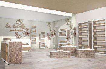negozio mobili di cartone