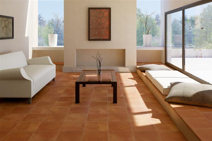 vari materiali utilizzati per il pavimento del soggiorno
