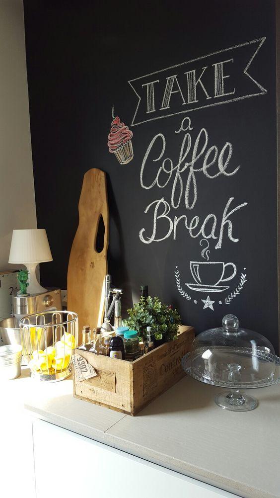 pittura lavagna angolo caffè