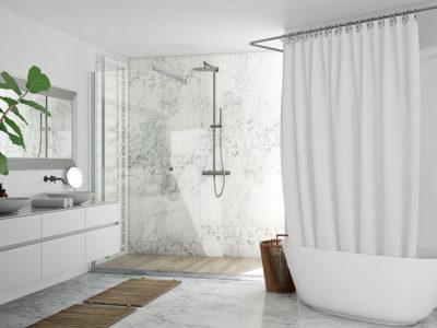 Tende da doccia particolari + consigli sui bastoni